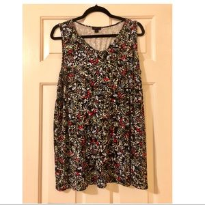 J Jill Wearever Sleeveless Floral Tunic